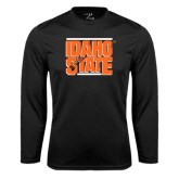 Performance Black Longsleeve Shirt-Idaho State Block