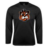 Syntrel Performance Black Longsleeve Shirt-Vintage Mascot Head