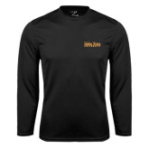 Performance Black Longsleeve Shirt-University Mark