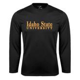 Syntrel Performance Black Longsleeve Shirt-University Mark