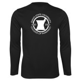 Performance Black Longsleeve Shirt-Pharmacy Seal