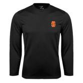 Syntrel Performance Black Longsleeve Shirt-Interlocking IS