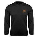 Syntrel Performance Black Longsleeve Shirt-Bengal Head