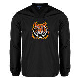 V Neck Black Raglan Windshirt-Bengal Head