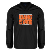 V Neck Black Raglan Windshirt-Idaho State Block