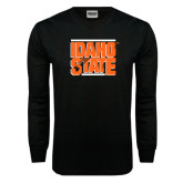 Black Long Sleeve TShirt-Idaho State Block