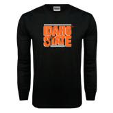 Black Long Sleeve TShirt-Idaho State Block
