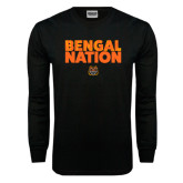 Black Long Sleeve TShirt-Bengal Nation