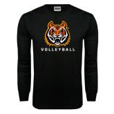 Black Long Sleeve TShirt-Volleyball