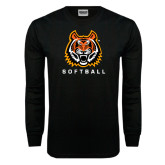 Black Long Sleeve TShirt-Softball
