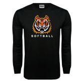 Black Long Sleeve TShirt-Softball