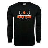 Black Long Sleeve TShirt-Football Field Design