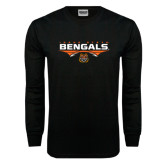 Black Long Sleeve TShirt-Football Ball Design