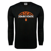Black Long Sleeve TShirt-Basketball Ball Design