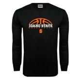 Black Long Sleeve TShirt-Basketball Ball Design