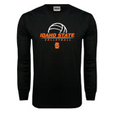 Black Long Sleeve TShirt-Volleyball Ball Design