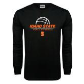 Black Long Sleeve TShirt-Volleyball Ball Design