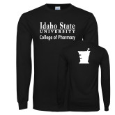 Black Long Sleeve T Shirt-Idaho State University College Pharmacy