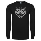 Black Long Sleeve T Shirt-Primary Athletics Mark - One Color