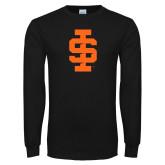 Black Long Sleeve T Shirt-Interlocking IS