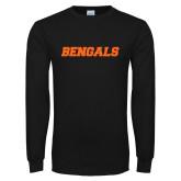 Black Long Sleeve T Shirt-Bengals