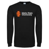 Black Long Sleeve T Shirt-Institutional Mark