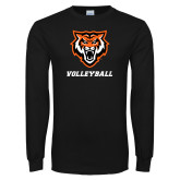 Black Long Sleeve T Shirt-Volleyball