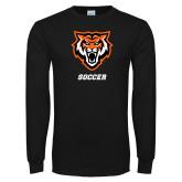 Black Long Sleeve T Shirt-Soccer