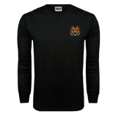 Black Long Sleeve TShirt-Bengal Head