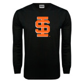 Black Long Sleeve TShirt-Interlocking IS