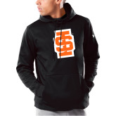 Under Armour Black Armour Fleece Hoodie-Interlocking IS - Two Color