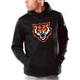 Under Armour Black Armour Fleece Hoodie-Primary Athletics Mark