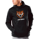 Under Armour Black Armour Fleece Hoodie-Softball