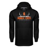 Under Armour Black Performance Sweats Team Hood-Football Field Design