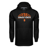 Under Armour Black Performance Sweats Team Hood-Football Ball Design