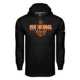 Under Armour Black Performance Sweats Team Hood-Basketball Net Design