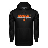 Under Armour Black Performance Sweats Team Hoodie-Softball Bar Design