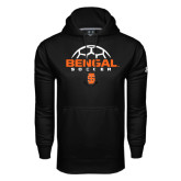 Under Armour Black Performance Sweats Team Hoodie-Soccer Ball Design