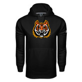 Under Armour Black Performance Sweats Team Hood-Bengal Head
