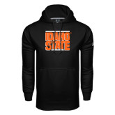 Under Armour Black Performance Sweats Team Hoodie-Idaho State Block