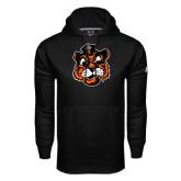 Under Armour Black Performance Sweats Team Hood-Vintage Mascot Head