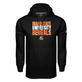 Under Armour Black Performance Sweats Team Hoodie-Idaho State University Bengals Stacked