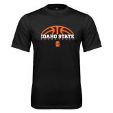 Syntrel Performance Black Tee-Basketball Ball Design