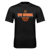 Syntrel Performance Black Tee-Basketball Net Design