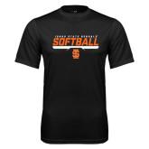 Syntrel Performance Black Tee-Softball Bar Design