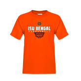 Youth Orange T Shirt-Basketball Net Design