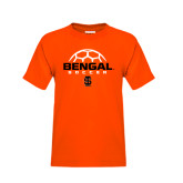 Youth Orange T Shirt-Soccer Ball Design
