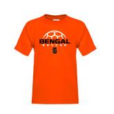 Youth Orange T Shirt-Soccer Ball Design