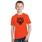 Youth Orange T Shirt-Primary Athletics Mark - One Color
