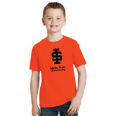 Youth Orange T Shirt-Instituional Mark Stacked